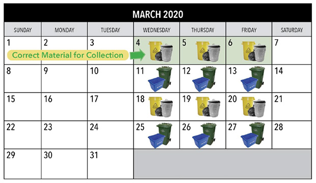 Calendar of March, corrected schedule